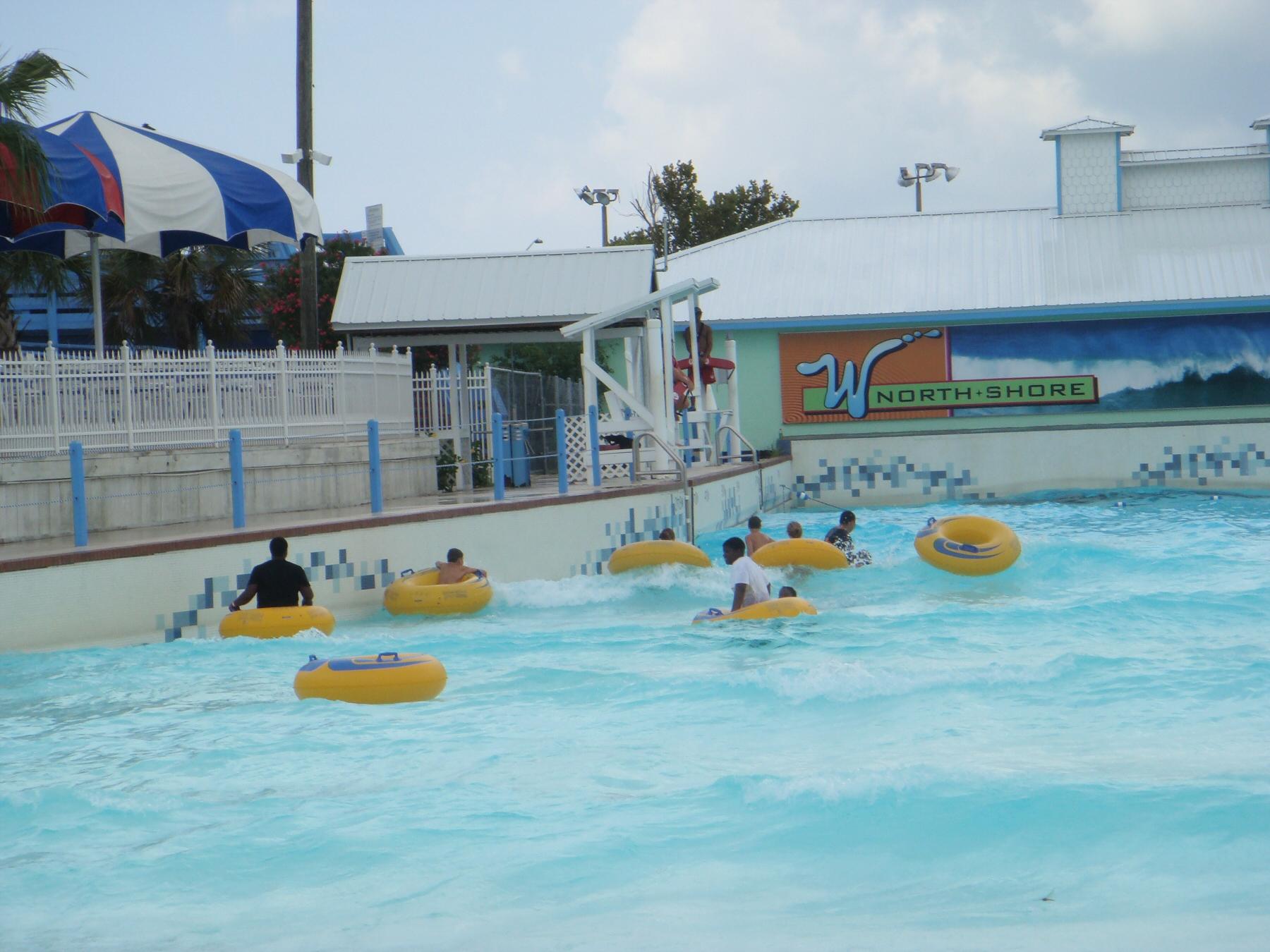 people in wave pool