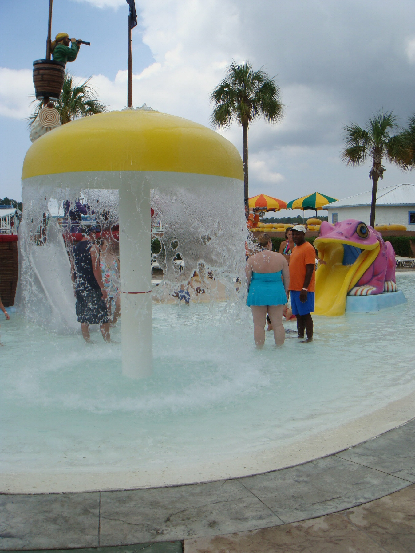 fountain at water park
