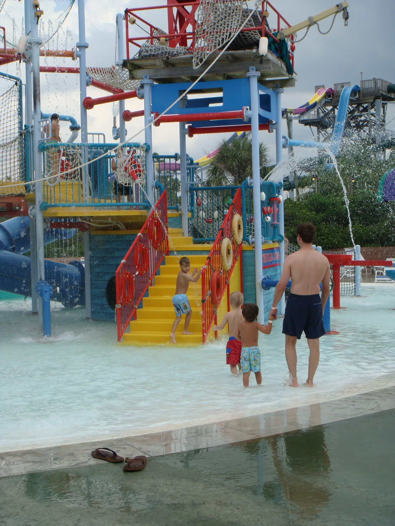 jungle gym at water park