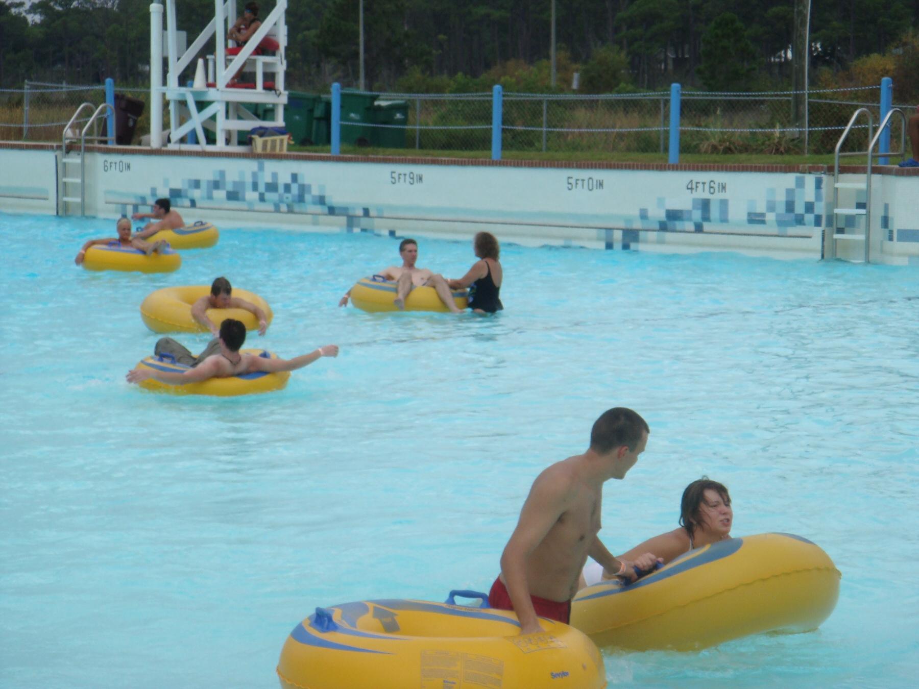 people in pool