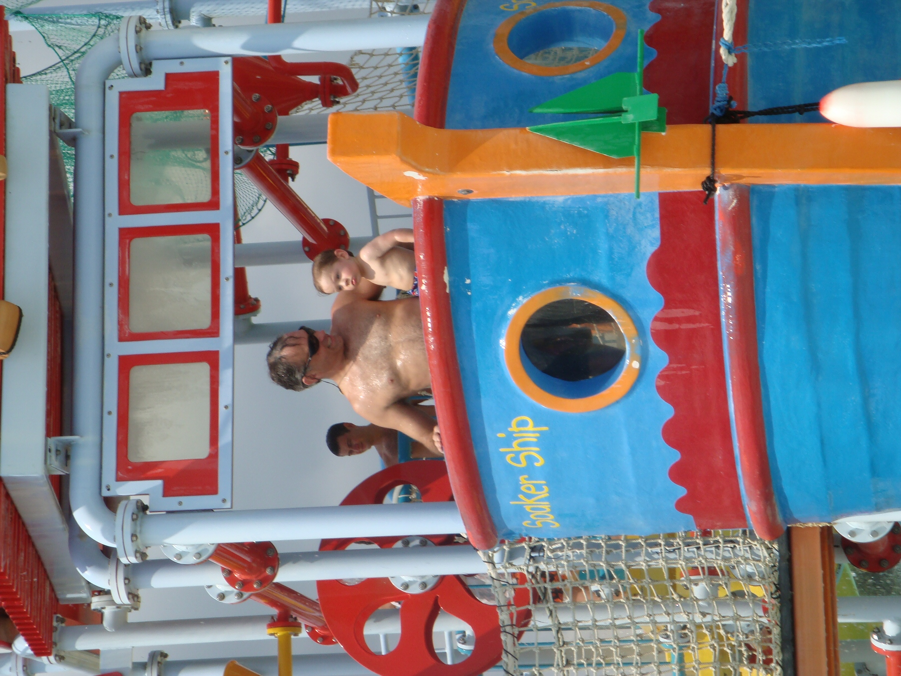 people playing at water park