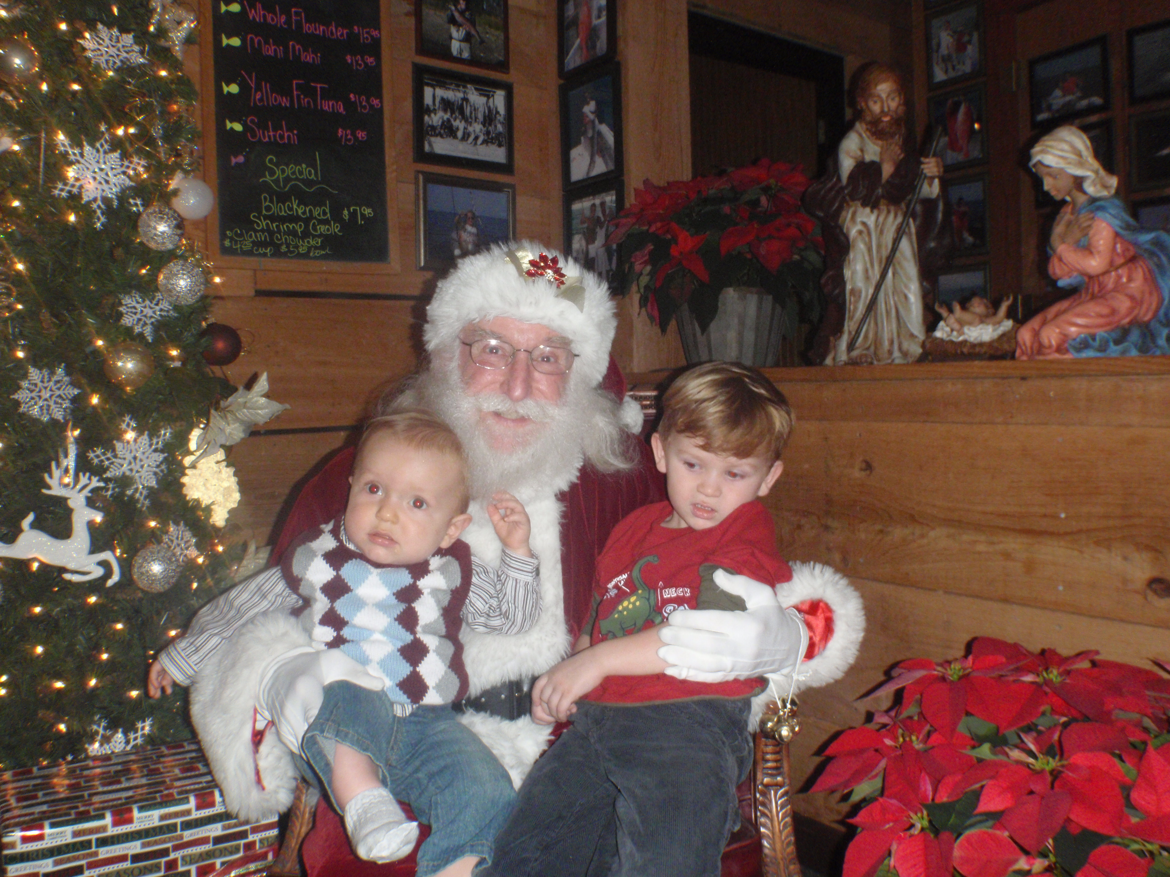Kids and Santa 4