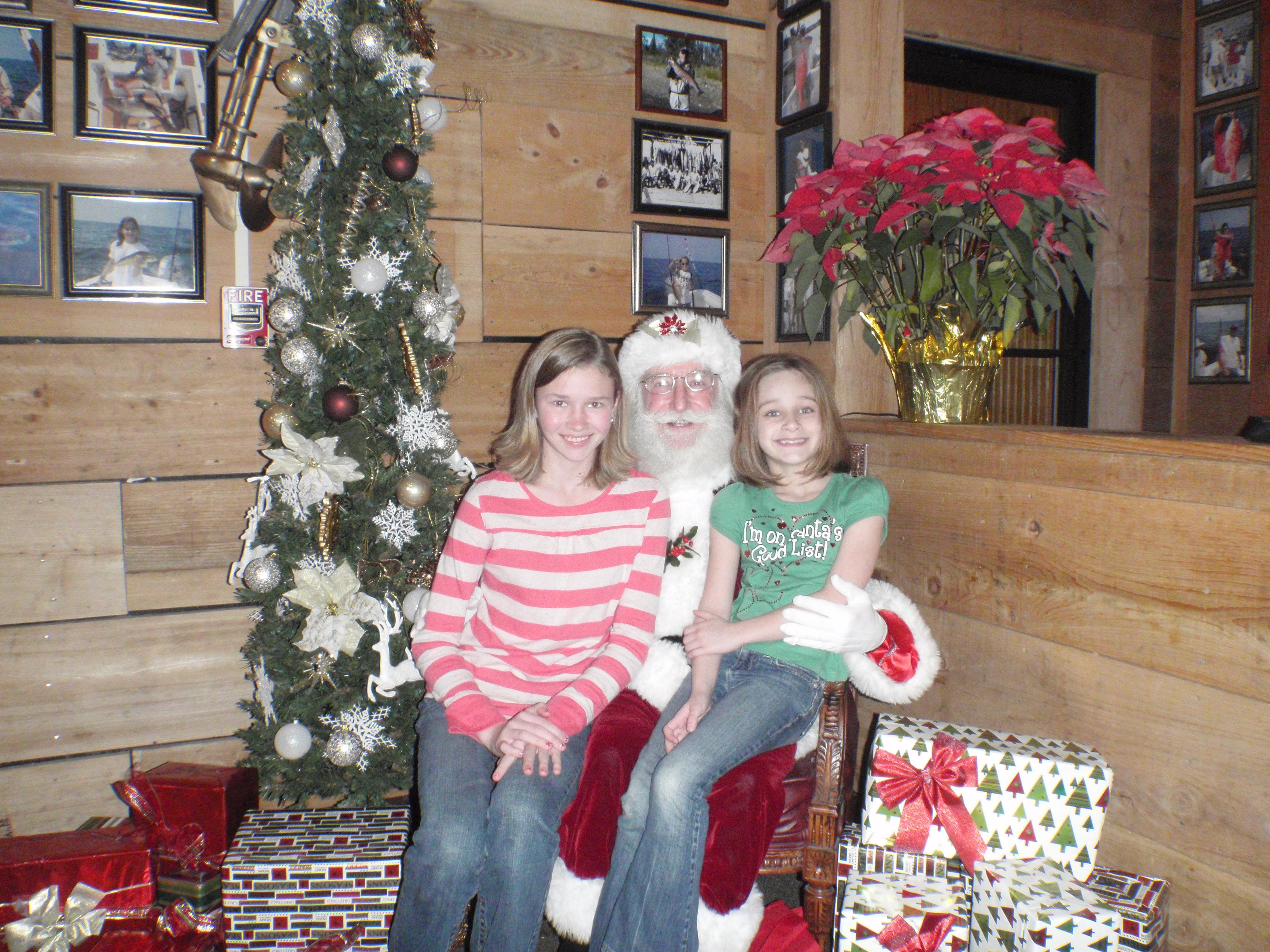girls and santa