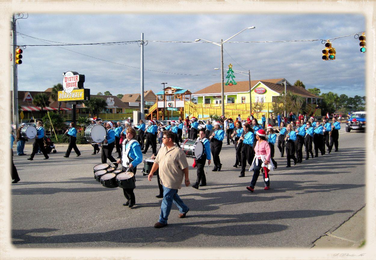 people walking in parade