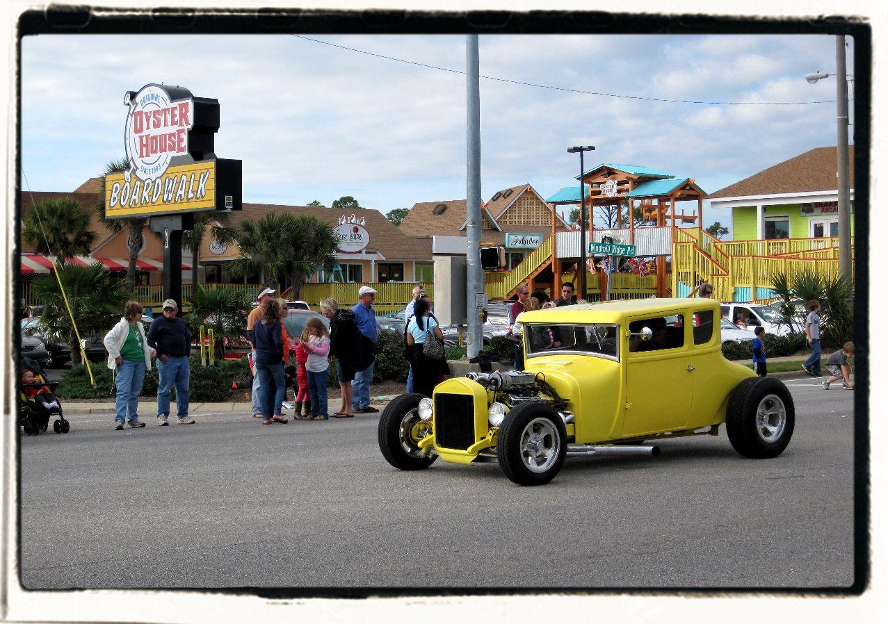 Christmas parade antique car