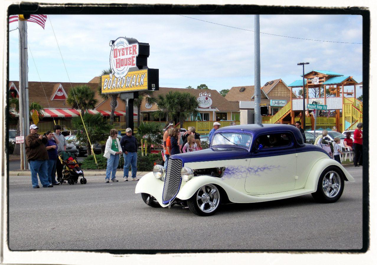 Christmas parade car