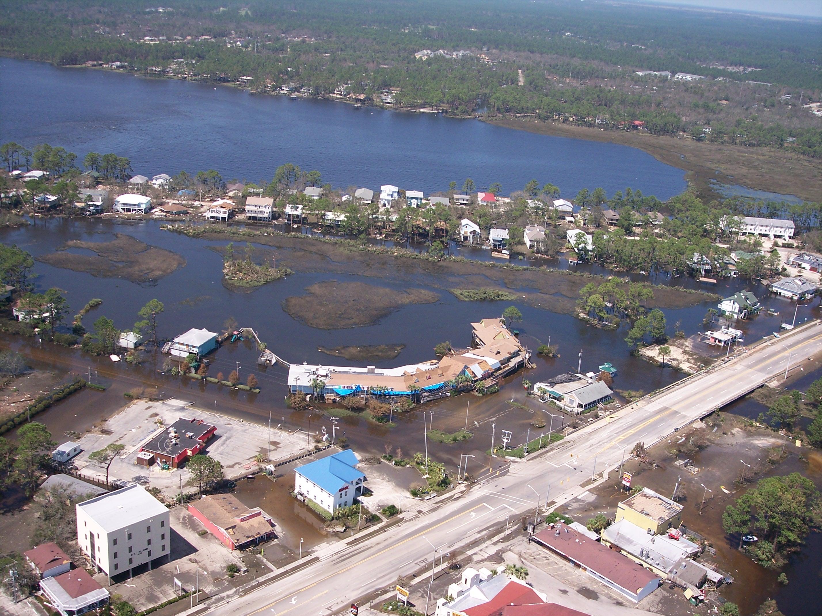 hurricane Ivan damage aerial view