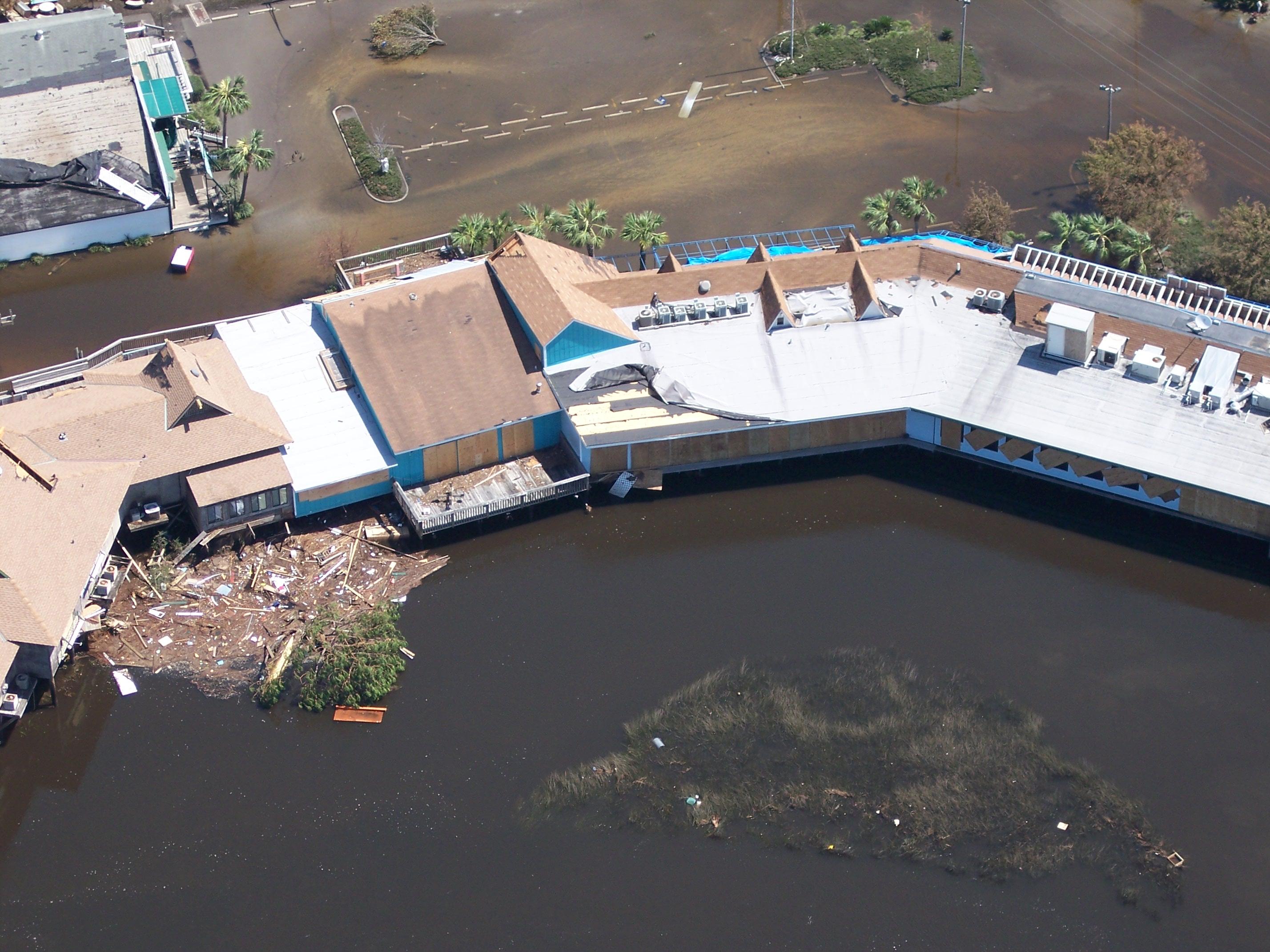 Hurricane Ivan flooding of Gulf Shores restaurant