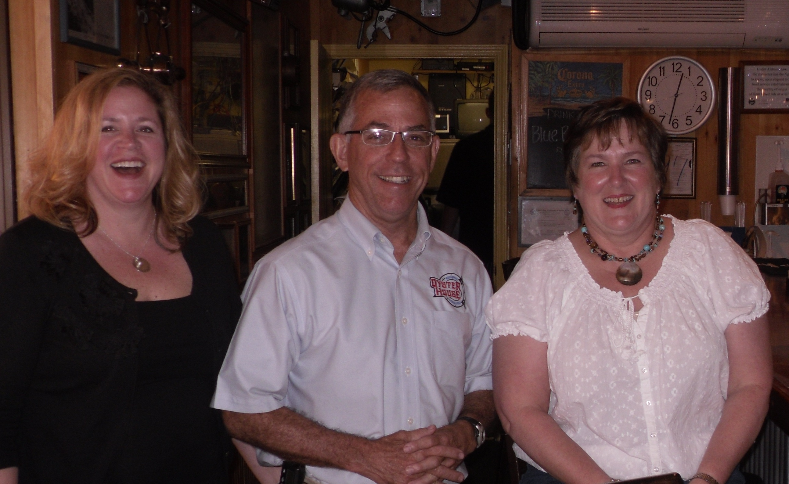 group of three inside original oyster house