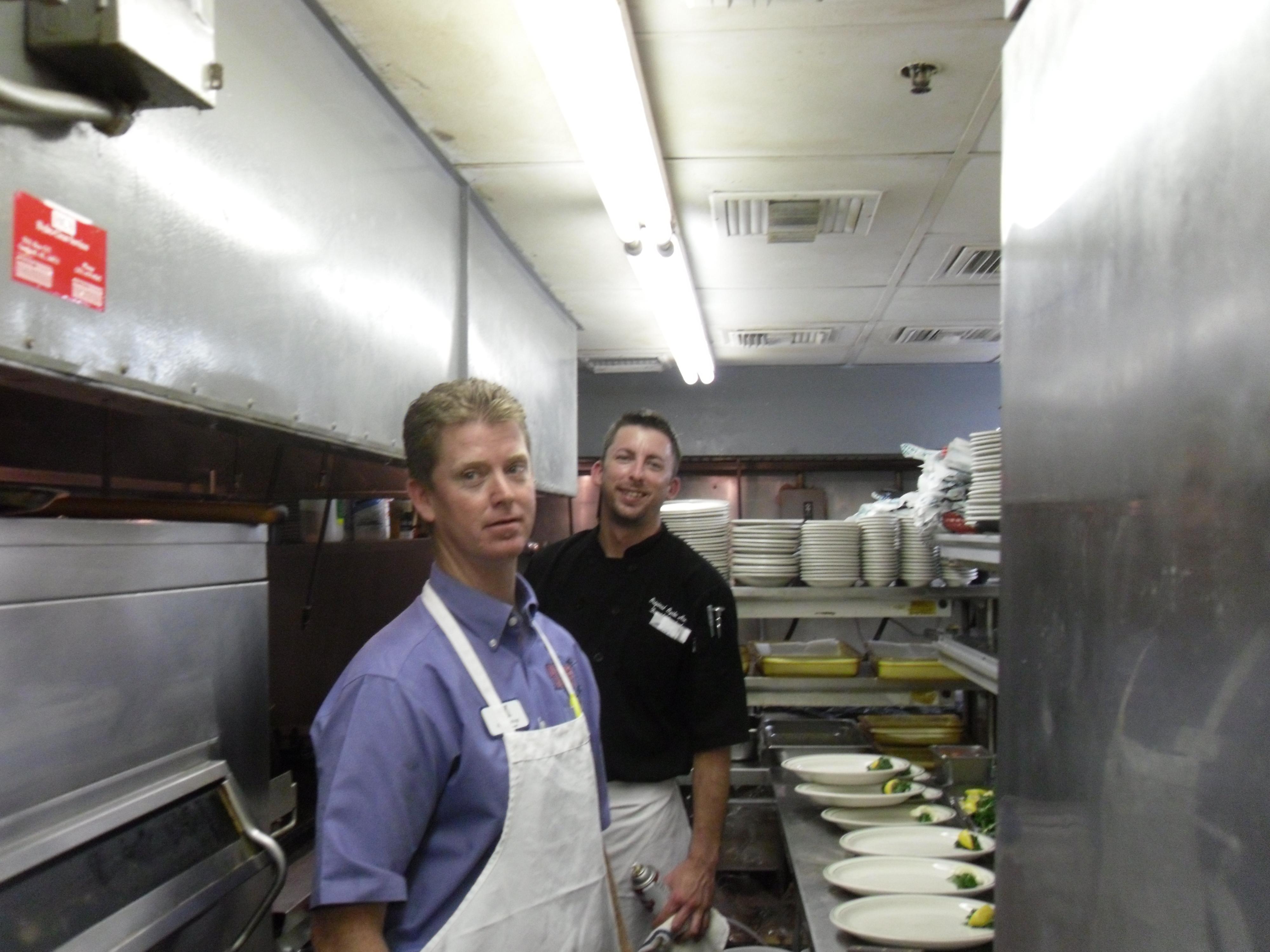 2 men in kitchen
