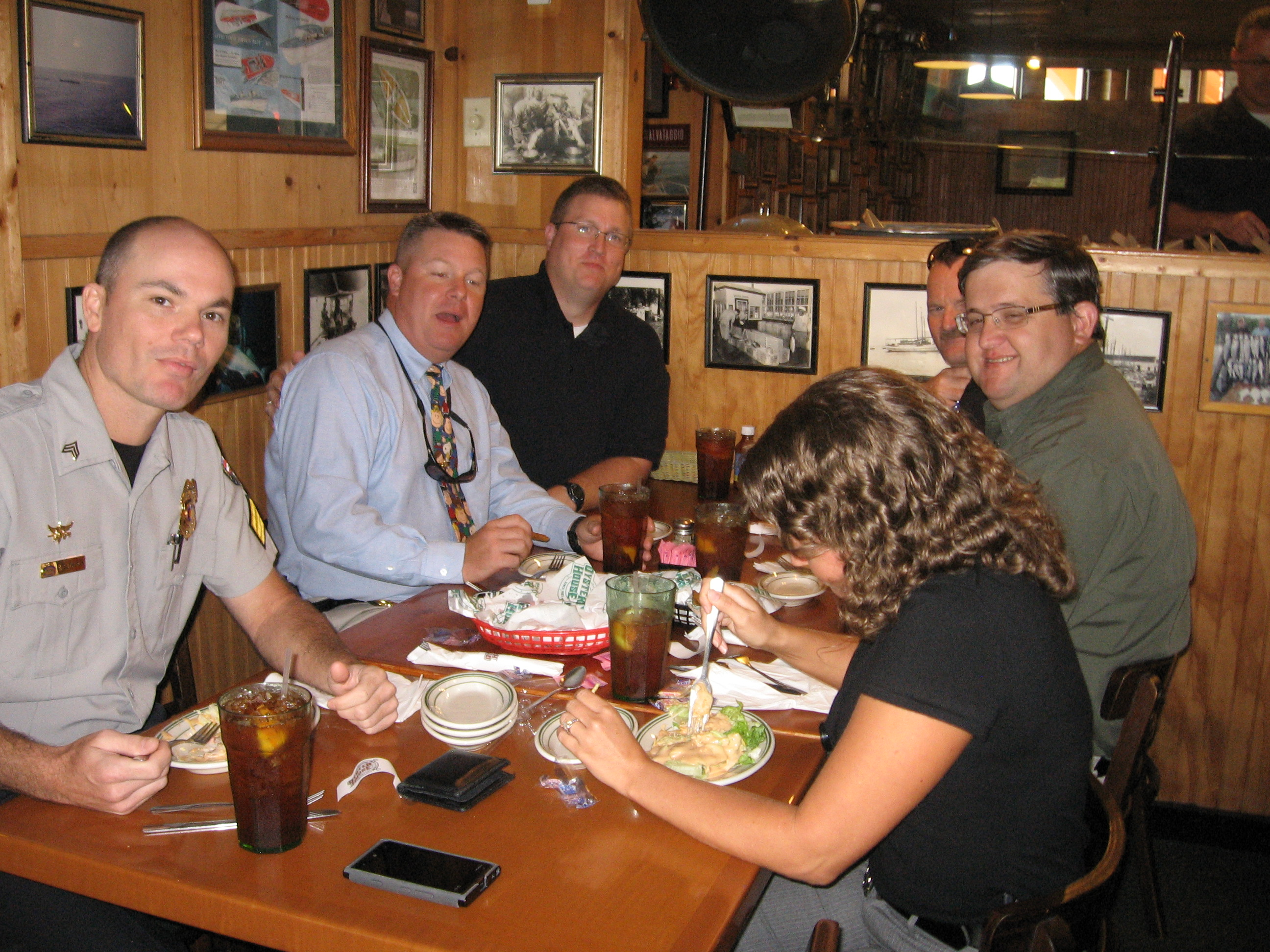 Group of people having a good time at Original Oyster House Never Forget Lunch