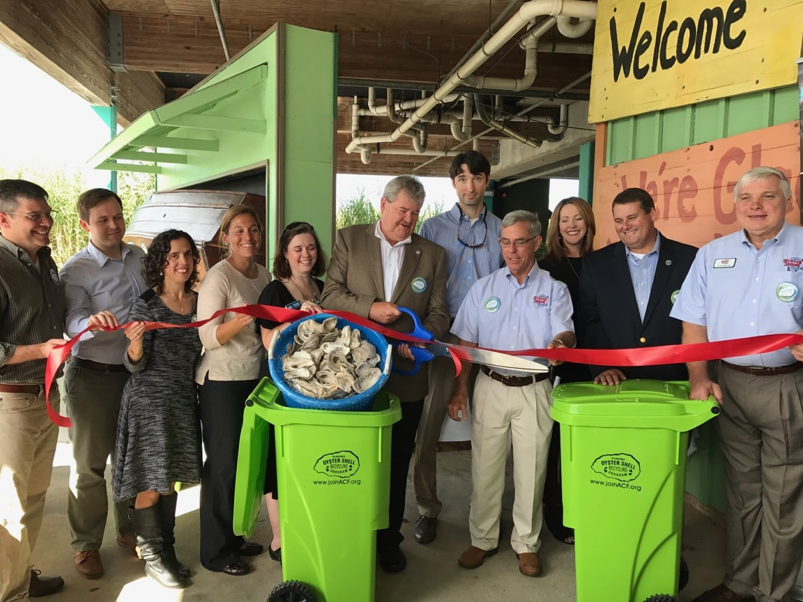 Oyster Shell Ribbon Cutting