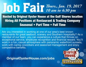 Original Oyster House Hosts Job Fair