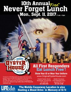 Never Forget Lunch Monday, Sept. 11th