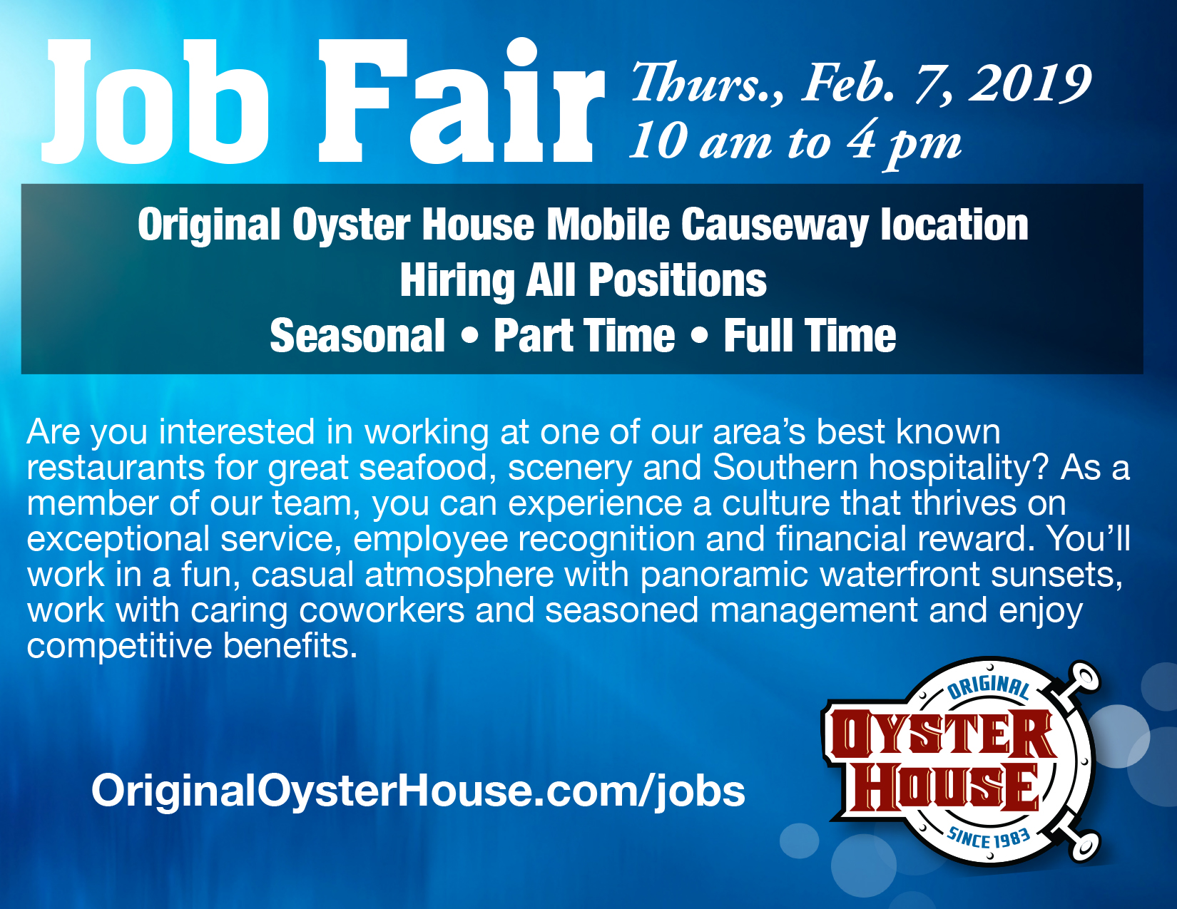 Job Fair on the Mobile Causeway