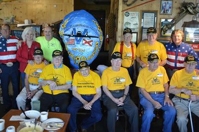 group of veterans inside original oyster house
