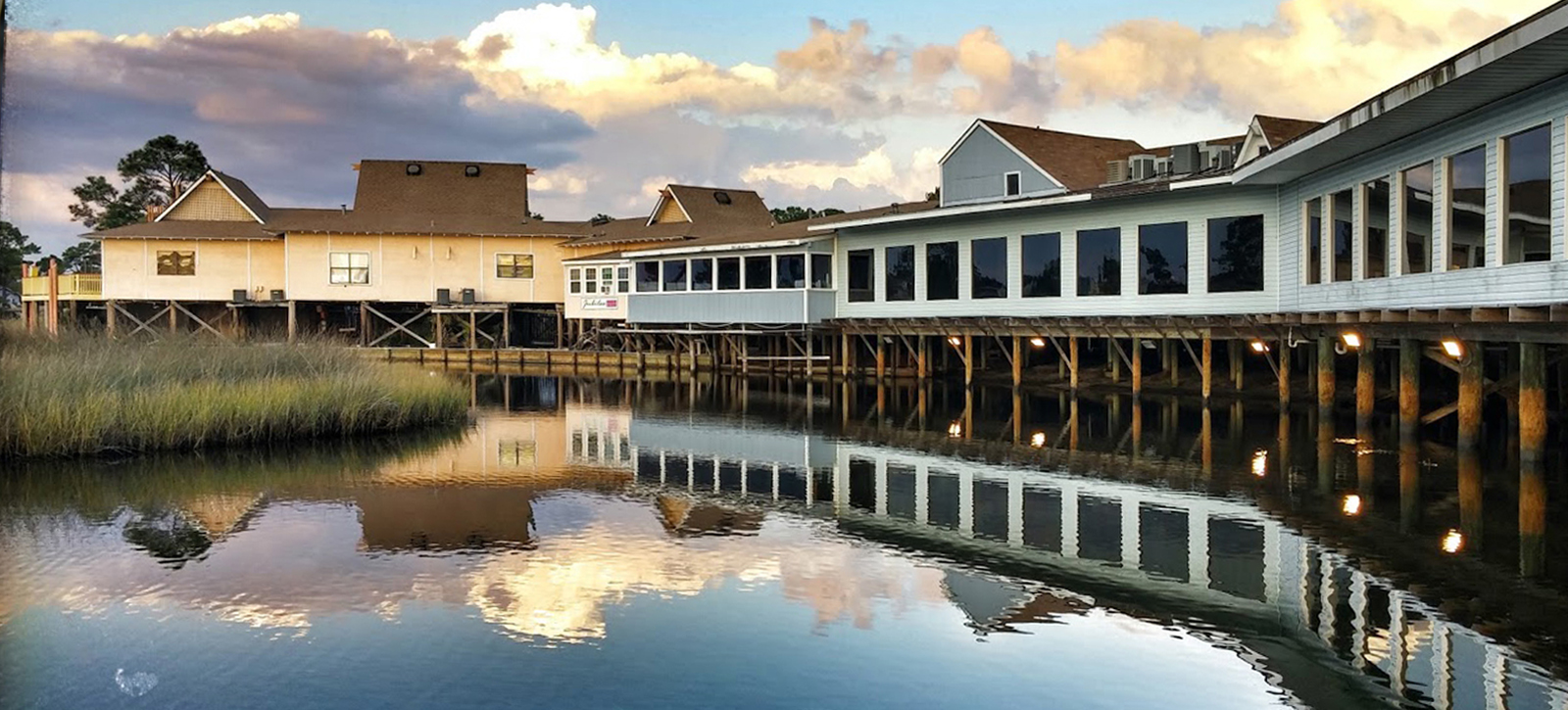 Gulf Shores Original Oyster House waterfront dining view