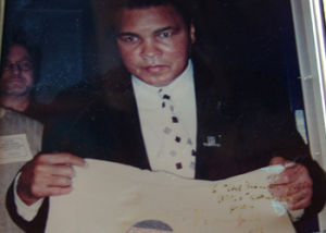 Muhammad Ali at the Original Oyster House