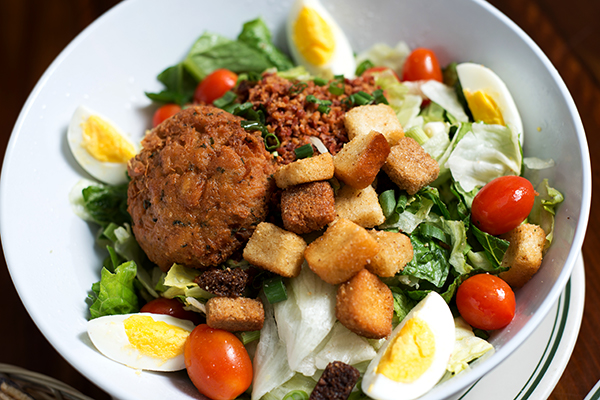 Lump Crab Cake and Bacon Salad