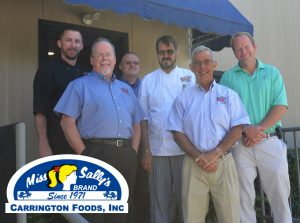 Original Oyster House managers, David Bundock, Bud Morris, James Nail, Simon Leon, David Dekle and David Carrington Jr., Vice President of Carrington Foods