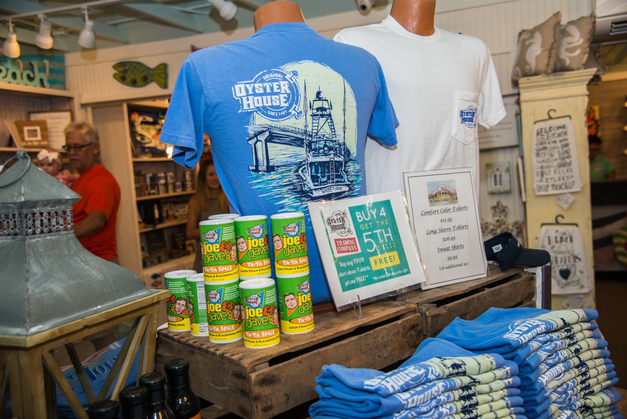 original oyster house gift shop display