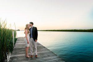 Wedding Rehearsal Engaged Couple