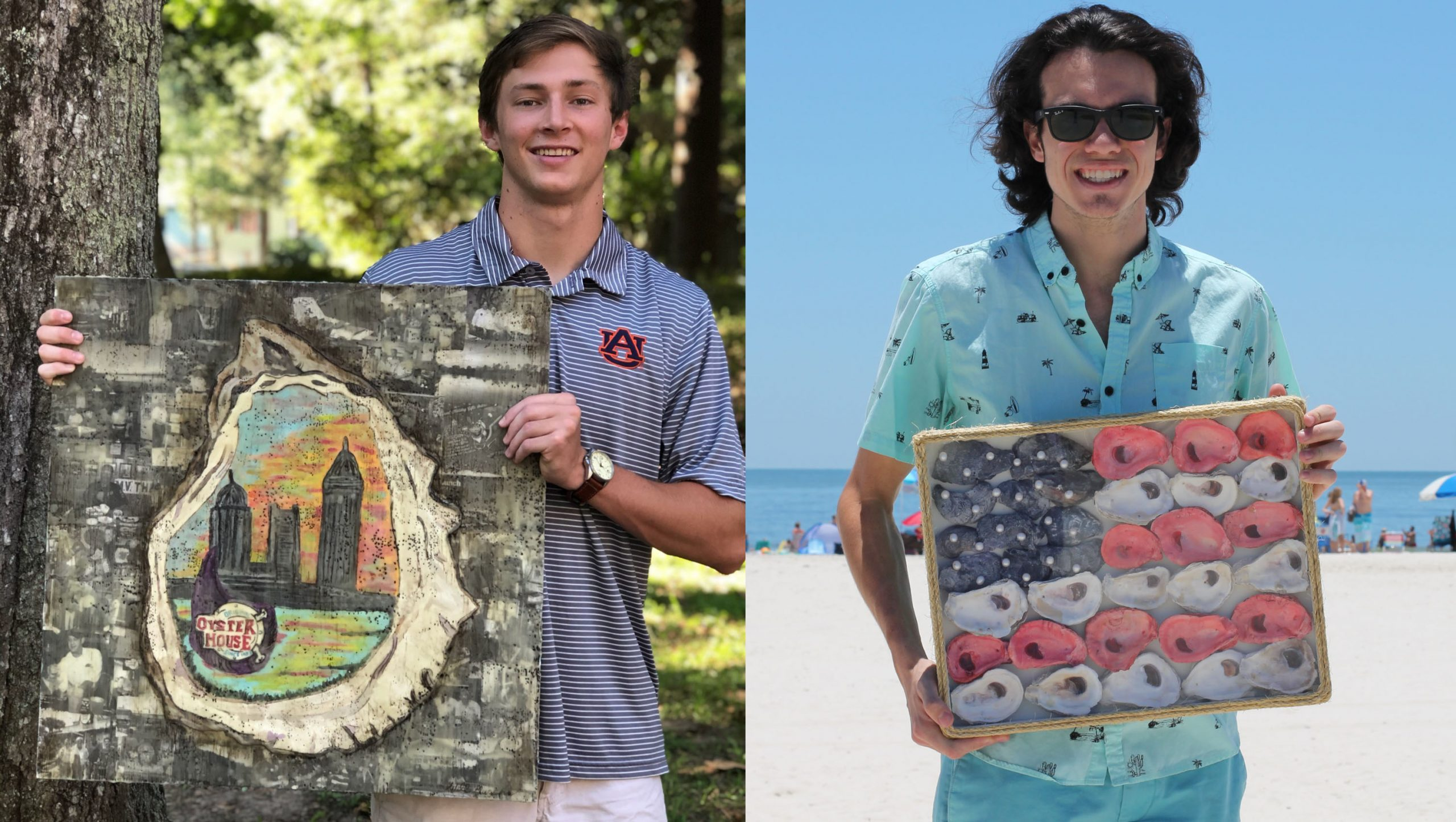 Pictured from left are 2020 Chelsea Garvin Scholarship winners William Thomas Murphy of Bayside Academy and Braswell McMeans of Gulf Shores high school.