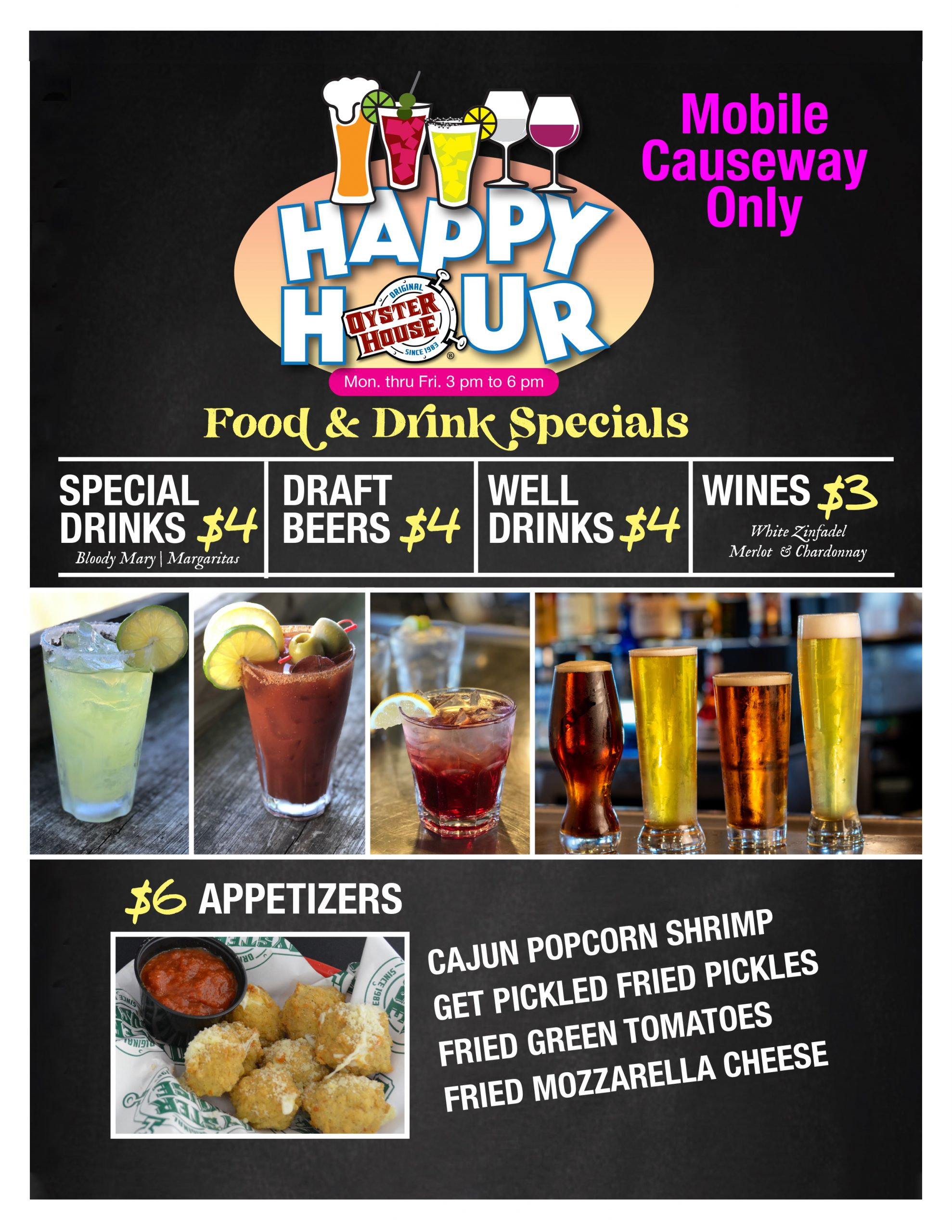 Happy Hour at the Mobile Causeway