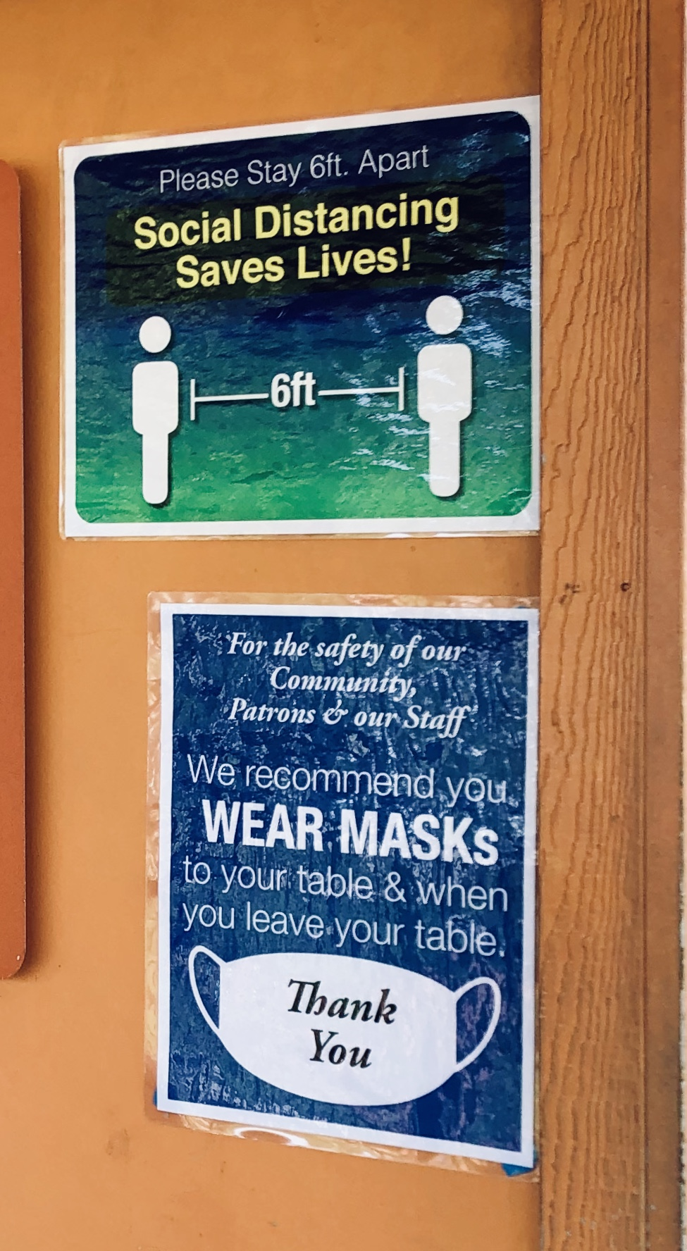 Social Distance & Mask Signs
