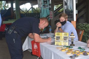 Perdido Queen Dinner Cruises Austin Harler signs up first responders to win a free dinner cruise.