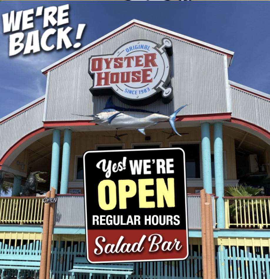 Gulf Shores Restaurant Yes We're Open and so is the Salad Bar with Regular Hours
