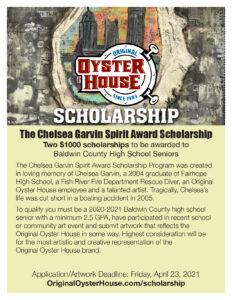 2021 Chelsea Garvin Spirit Award Scholarship Poster